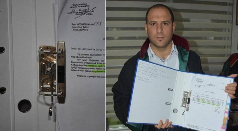 Dosya klasörü, kesici alet, silah sayıldı, avukat içeri alınmadı!