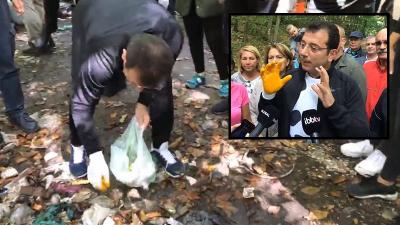 Ekrem İmamoğlu, Belgrad Ormanı'nda çöp topladı