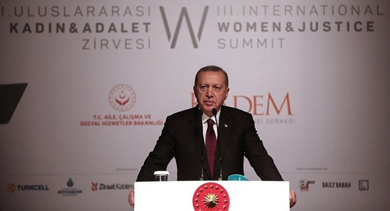 Erdoğan: Ev işlerinin kadınlara yüklenmesi söz konusu değildir