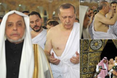 Erdoğan, Hulusi Akar ve Hakan Fidan'dan umre ziyareti