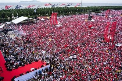Erdoğan, İnce'nin mitingi için '500 kişi yok' dedi!