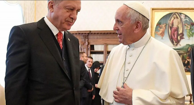 Erdoğan, Papa Francis ile Gazze'yi konuştu