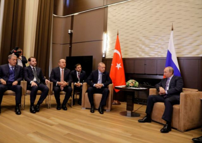Erdoğan Putin görüşmesi başladı
