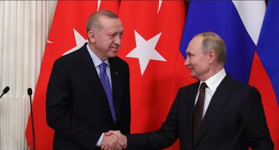 Erdoğan, Putin ile Filistin'i konuştu