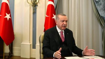Erdoğan'dan Bakan Dönmez'e: Önce tabii müsaade edin de konuşmamızı yapalım