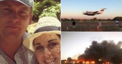 Eşine öfkelenen pilot uçakla eşinin bulunduğu binaya çarptı