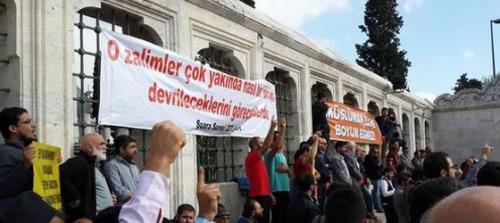 Hizbullahçılar Fatihte eylem yaptı!