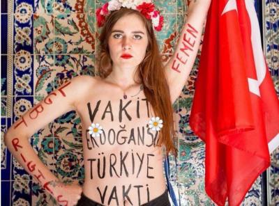 FEMEN'den İmamoğlu paylaşımı: Vakit AKP'siz İstanbul vakti! Vakit Erdoğan'sız Türkiye vakti