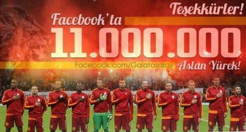 Galatasaray'dan Facebook rekoru!