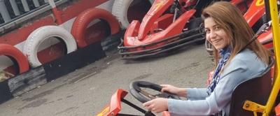Go-kart pistinde yine şal kazası