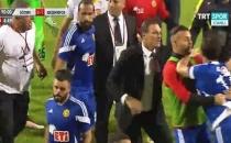 Göztepe - Eskişehirspor maçında kavga! Maç iptal edildi...