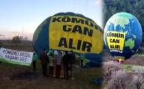 Greenpeace'den Soma'da kömür eylemi!