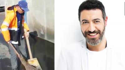 Hakan Altun, yetenekli temizlik işçisi Şahin Özlem'e single hazırladı