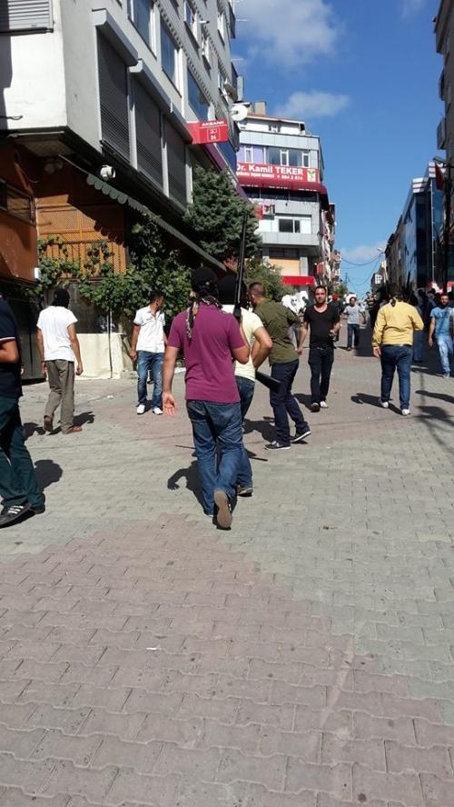 Halk cephesi ve HDP çatışmasında silahlar çekildi!