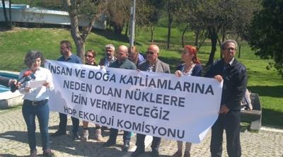 HDP'den nükleer santral protestosu