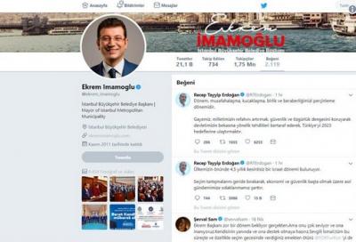 Ekrem İmamoğlu, Erdoğan'ın attığı tweetleri beğendi