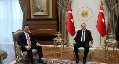 İmamoğlu, İstanbul'a gelen Erdoğan'ı havalimanında karşıladı
