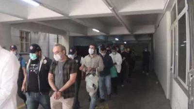 'İsimsizler hareketi' operasyonunda gözaltına alınanlar adliyeye sevk edildi