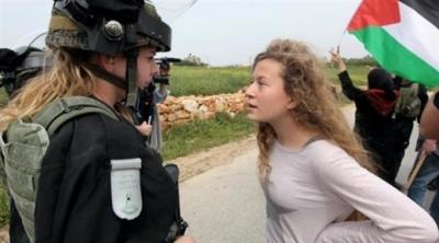 İsrail askerini tokatlayan Ahed Temimi'ye 8 ay hapis cezası