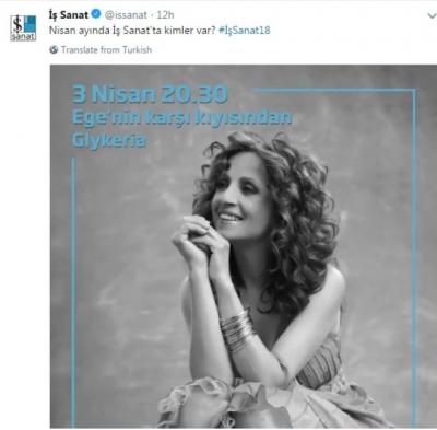İstanbul'da sahne alacak Yunan sanatçı Glykeria'ya tepki