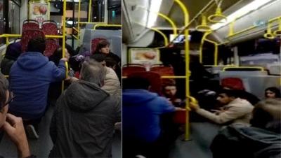 İstanbul'da çatışmasının ortasında kalan halk otobüsünde korku dolu anlar