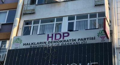 İstanbul'da HDP ilçe binasını taşlayan kişi yakalandı