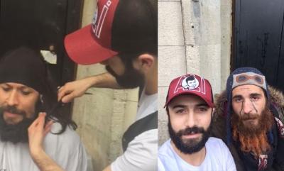 İstiklal Caddesi'nde evsizlere ücretsiz tıraş