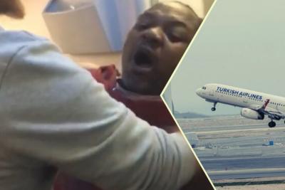 Kamerunlu bir yolcunun THY uçağında streç filme sarıldığı görüntülere inceleme