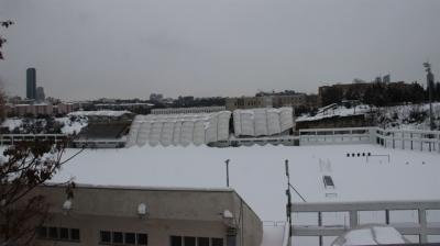 Kar nedeniyle İTÜ stadının çatısı çöktü