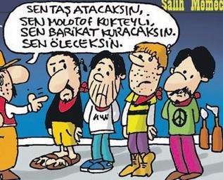 Salih Memecan'dan tepki çeken Gezi karikatürü!