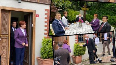 Kemal Kılıçdaroğlu'ndan Meral Akşener'in evine bayram ziyareti