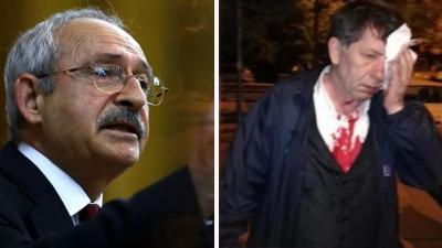 Kılıçdaroğlu, saldırıya uğrayan Yavuz Selim Demirağ'ı hastanede ziyaret etti