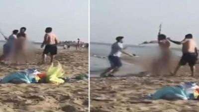 KKTC'de plajda çıplak gezen kişi darp edildi