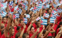 Kübalı öğrenciler ABD'yi protesto etti!