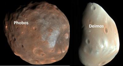 'Mars'ın uyduları Phobos ve Deimos muhtemelen bir zamanlar tek bir cisimdi'