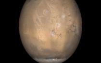 Mars'ta buz kütlesi bulundu