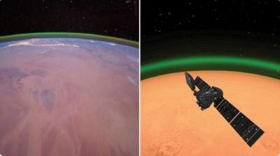 Mars'ta yeşil bir ışık yayıldığı tespit edildi