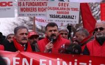 Metal işçileri meclis önünde!
