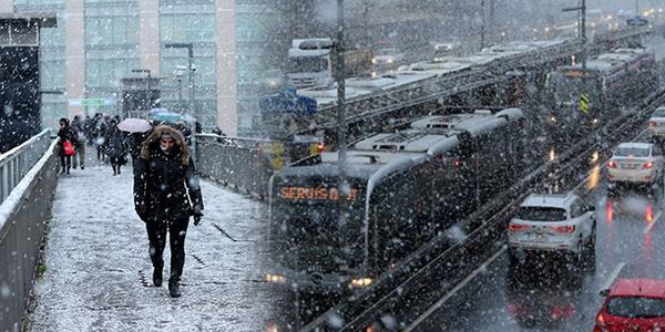 Meteoroloji'den İstanbul ve Ankara'ya kar uyarısı