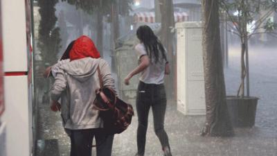 Meteoroloji'den yağmur ve şiddetli rüzgâr uyarısı