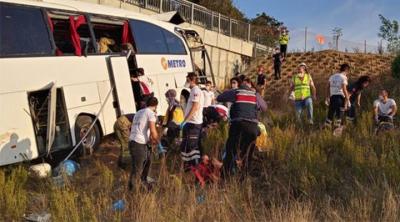 Metro Turizm'in otobüsü kaza yaptı: 5 ölü