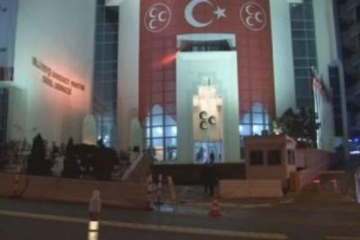 MHP Genel Merkezi beton bariyerlerle çevrildi