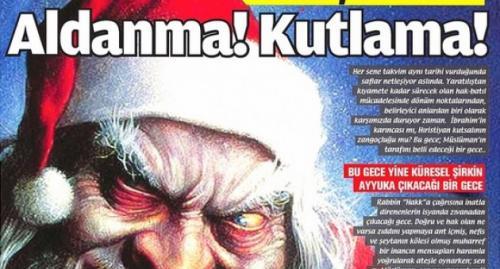Milli Gazete, Noel Baba'yı şeytan yaptı!