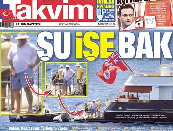 Takvim, Mustafa Koç'u çiş fotoğrafıyla vurdu!