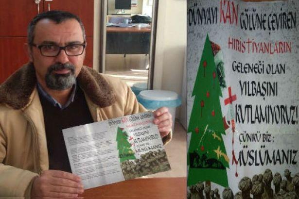 Öğretmen odalarına 'Müslüman Noel kutlamaz' başlıklı broşürler bırakıldı