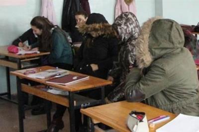 Okullarda kaloriferler yanmayınca tatil edildi
