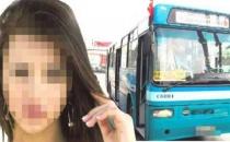 Otobüs şoförü vites değiştirme bahanesiyle kalçasına dokundu!
