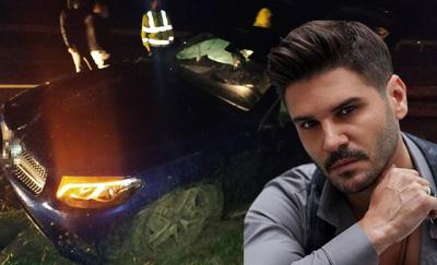 Otomobili takla atan Tolgahan Sayışman'ı emniyet kemeri kurtardı