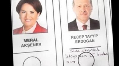Oy pusulasında Erdoğan'a mesaj yazan kadın konuştu