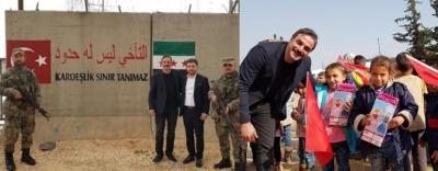 Oyuncu Ufuk Özkan Suriye'ye gitti